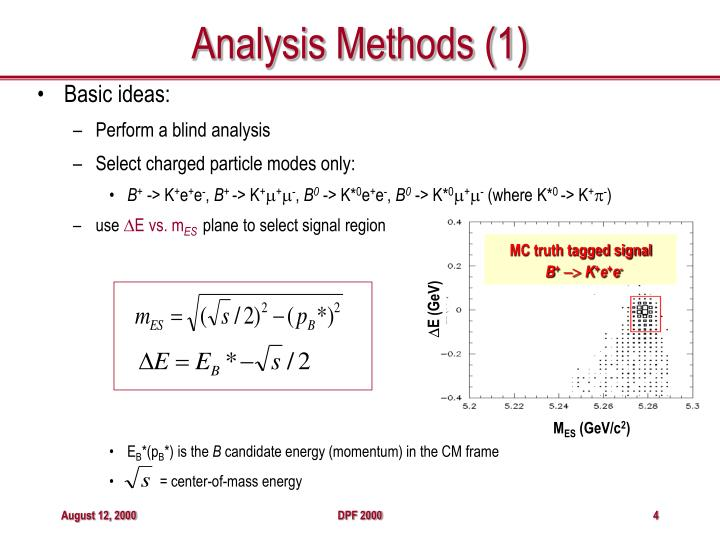 Analysis Methods (1)