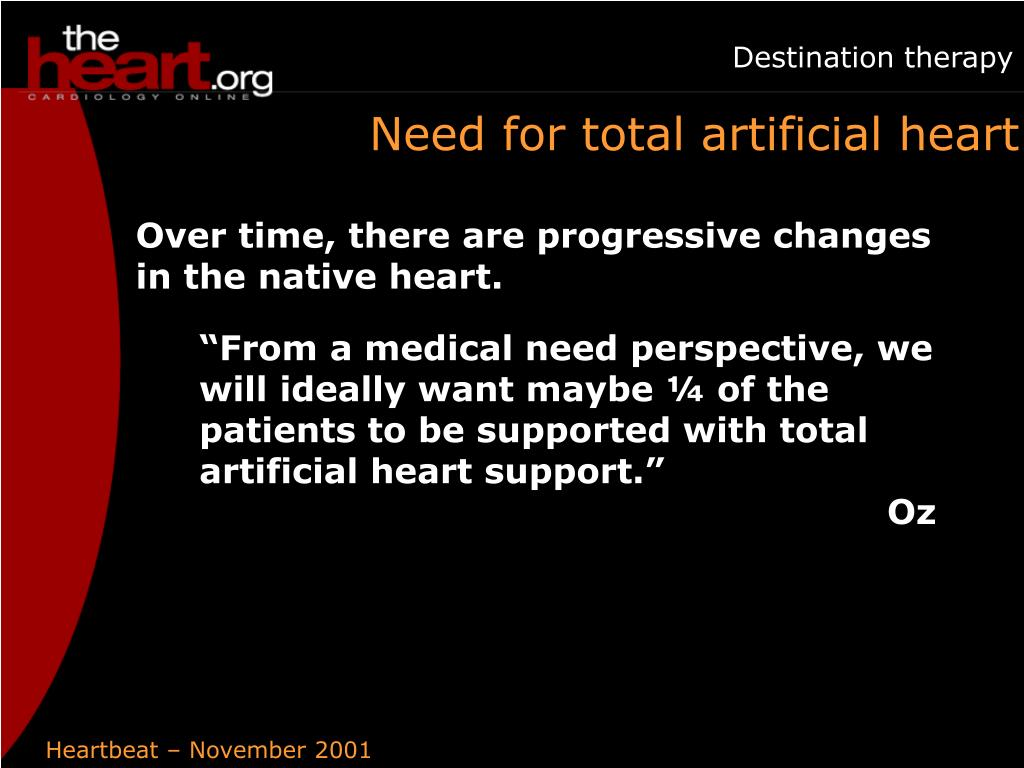 Need for total artificial heart