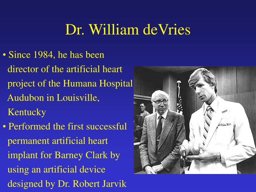 Dr. William deVries
