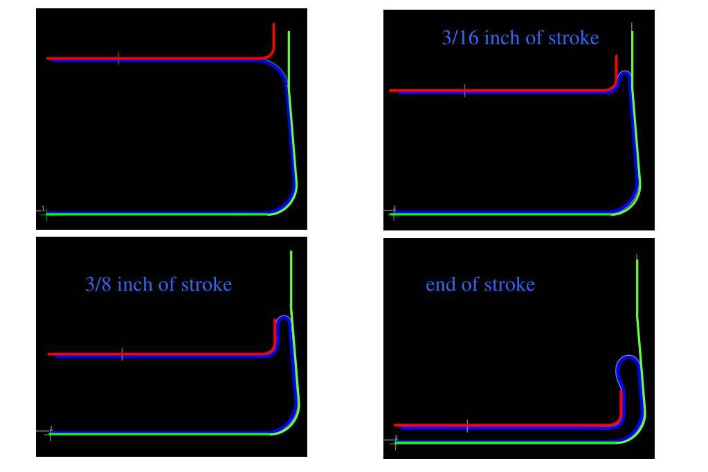 3/16 inch of stroke