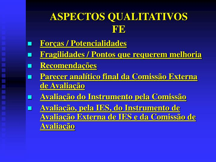 ASPECTOS QUALITATIVOS