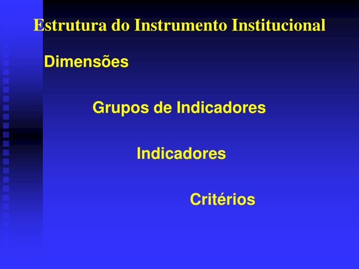 Estrutura do Instrumento Institucional
