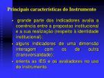principais caracter sticas do instrumento