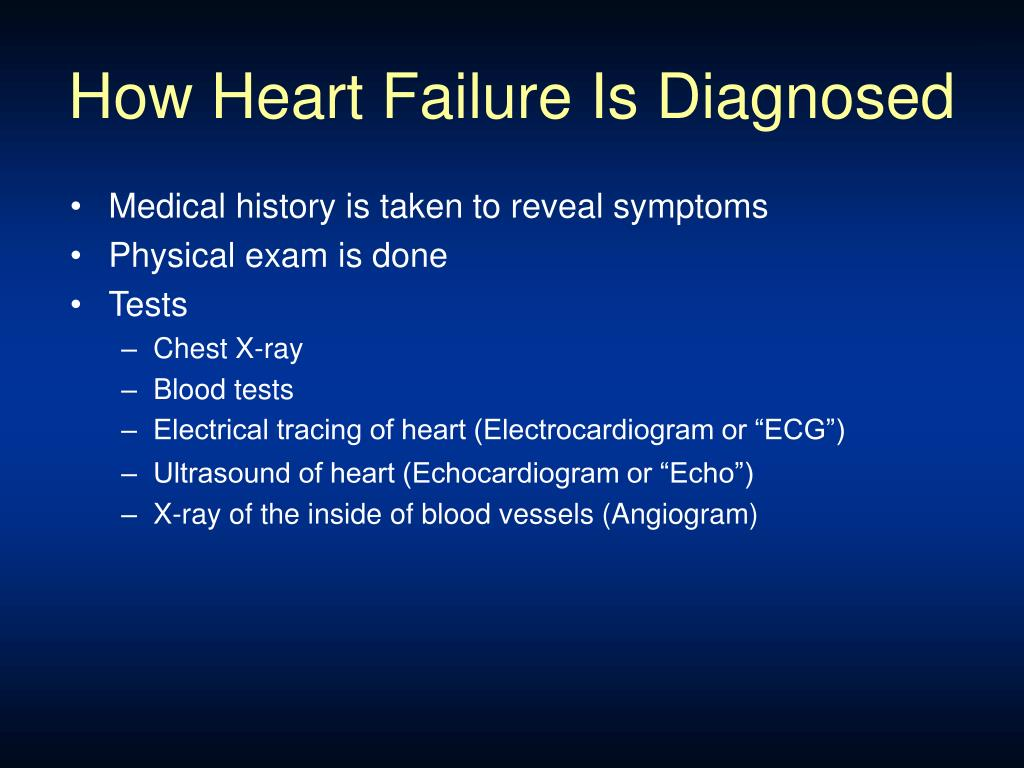 How Heart Failure Is Diagnosed