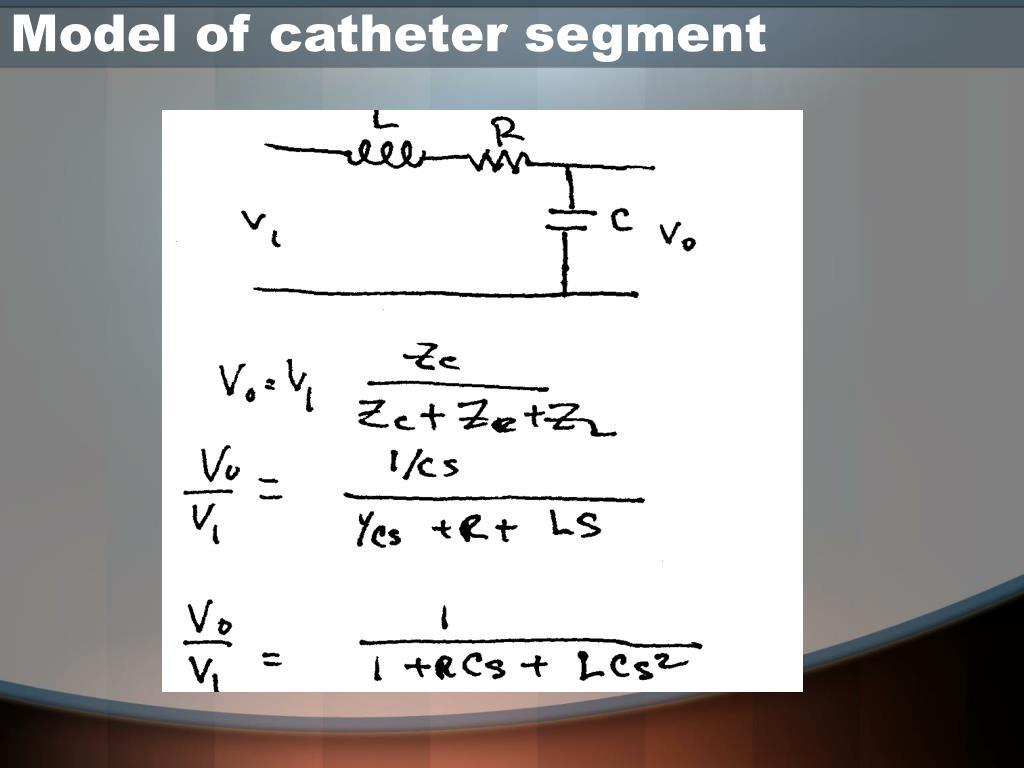 Model of catheter segment