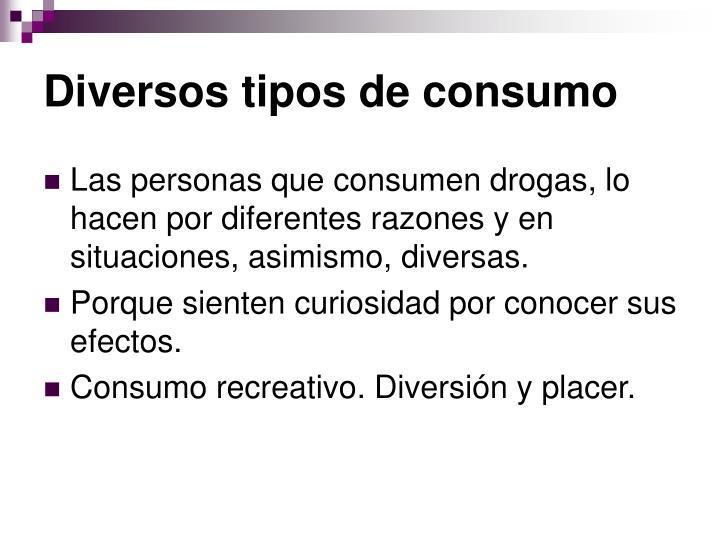 Diversos tipos de consumo