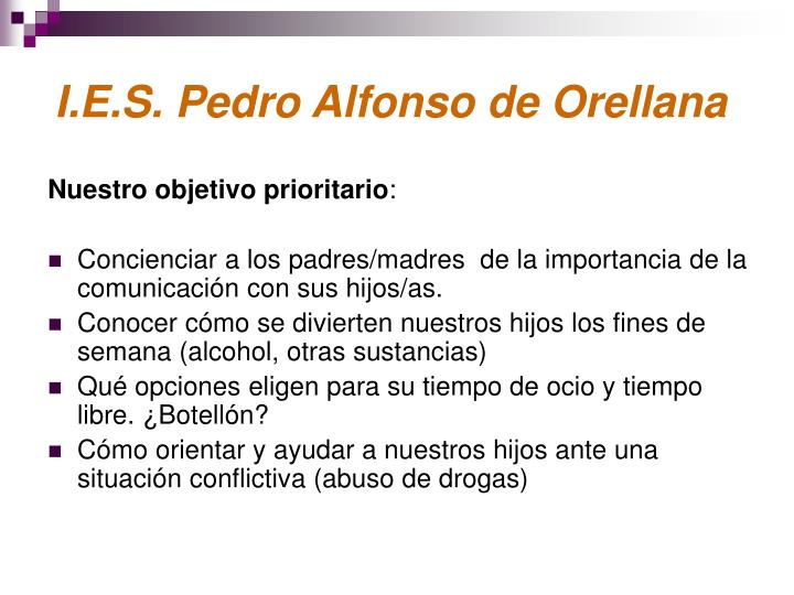 I.E.S. Pedro Alfonso de Orellana