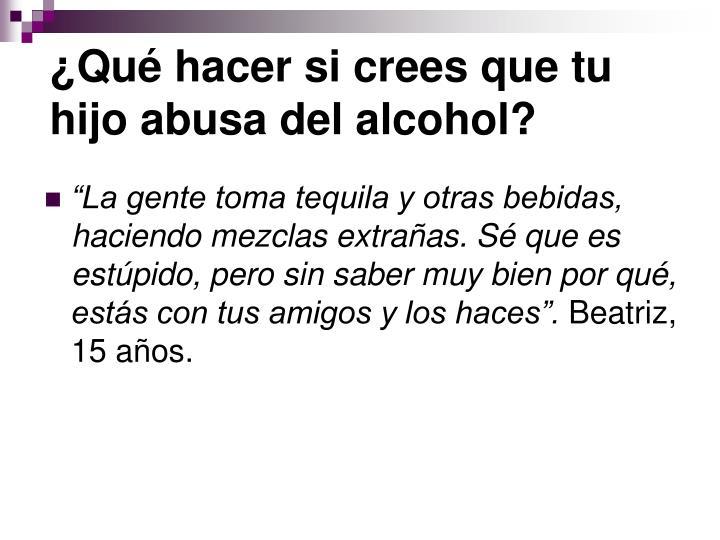 ¿Qué hacer si crees que tu hijo abusa del alcohol?