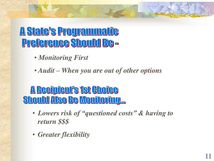 A State's Programmatic