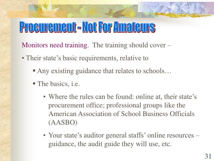 Procurement - Not For Amateurs