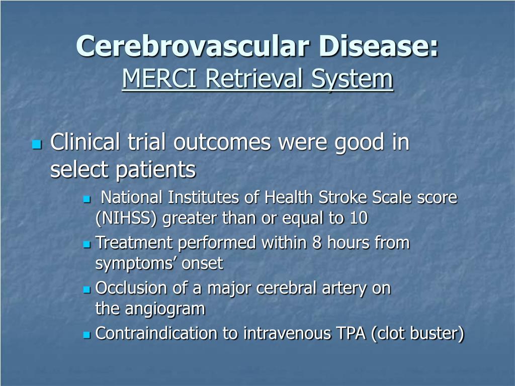 Cerebrovascular Disease:
