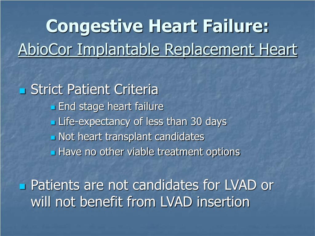Congestive Heart Failure: