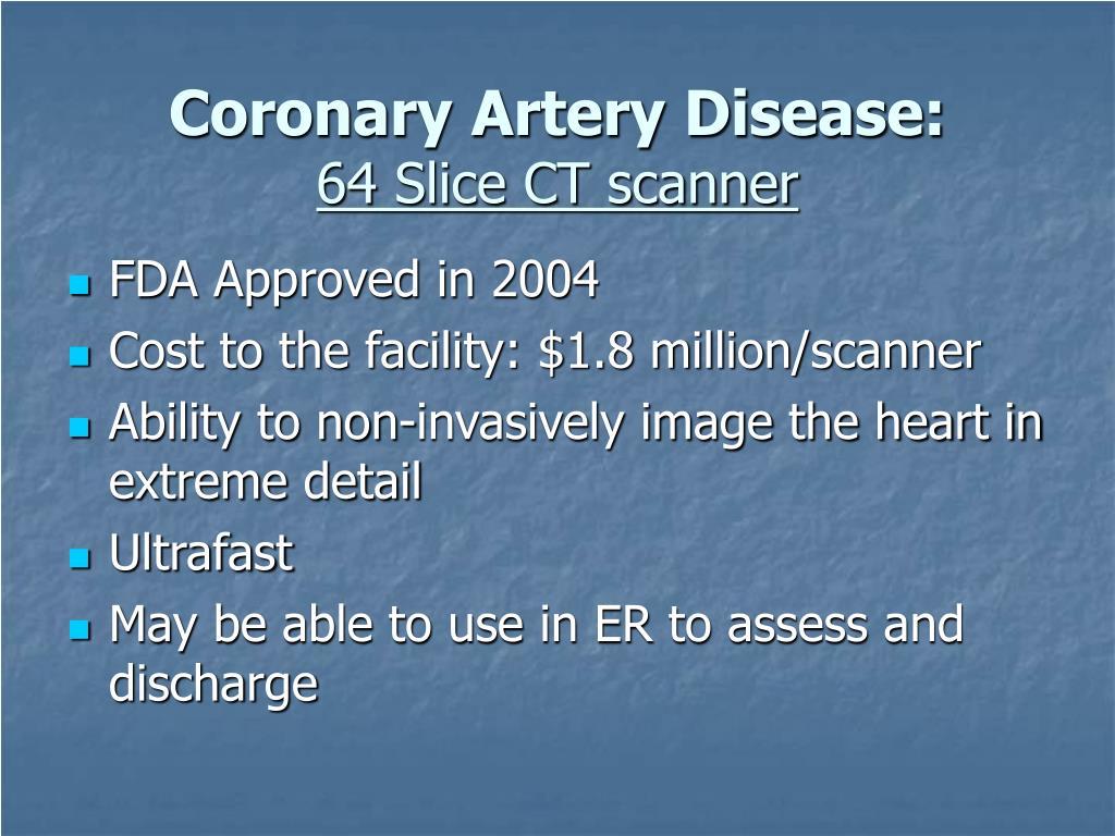 Coronary Artery Disease: