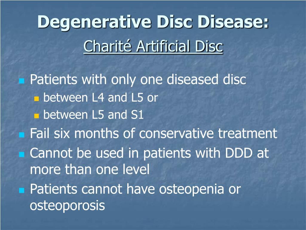 Degenerative Disc Disease: