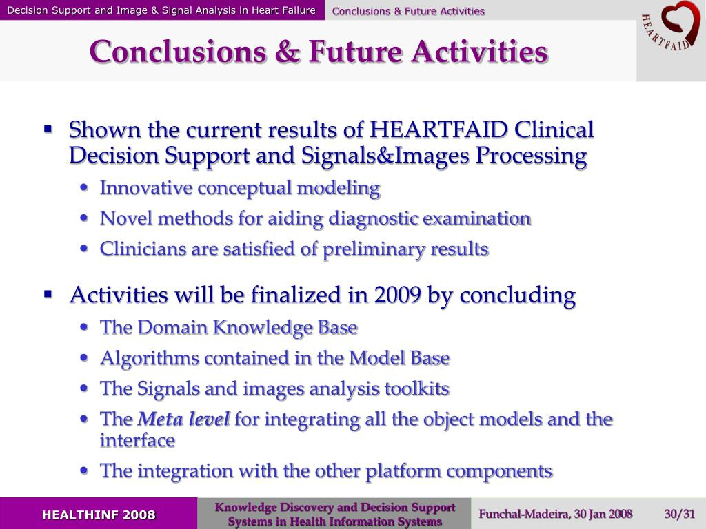 Conclusions & Future Activities