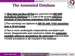 the annotated database