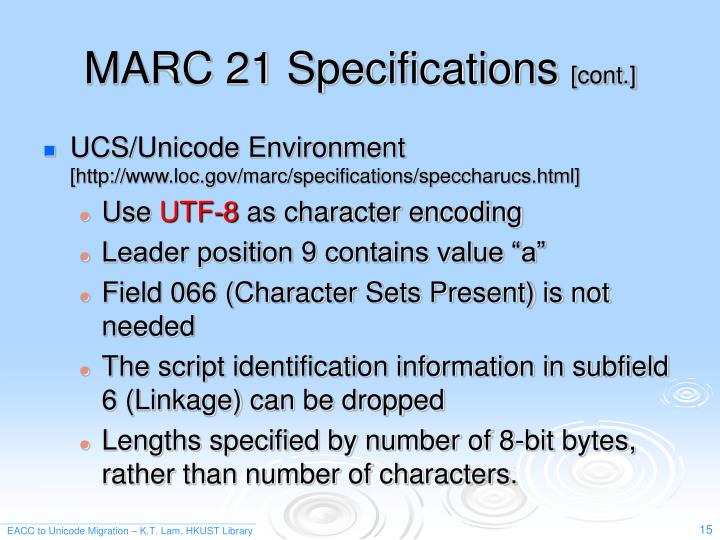 MARC 21 Specifications
