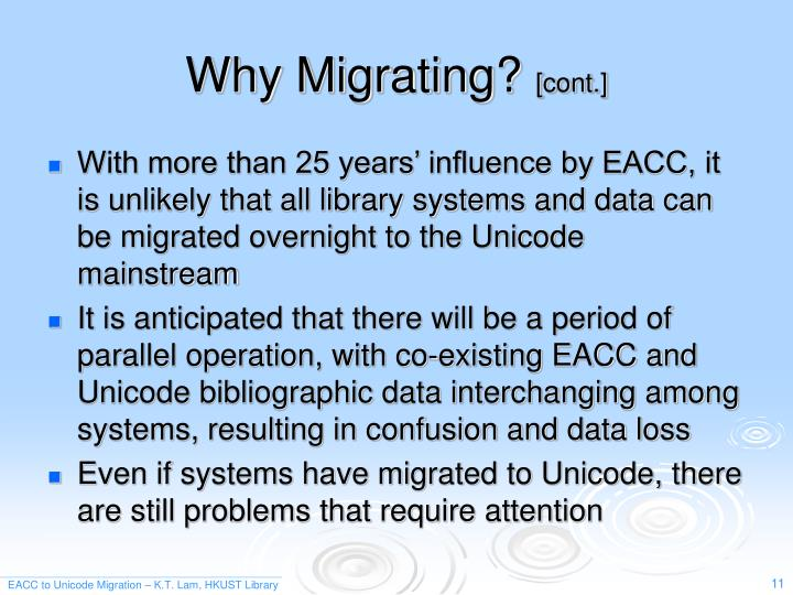 Why Migrating?