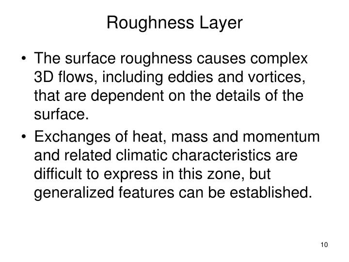 Roughness Layer