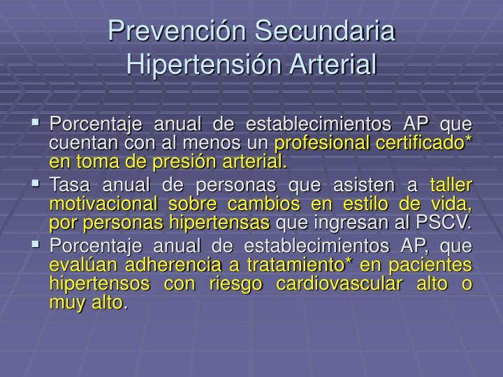 Prevención Secundaria Hipertensión Arterial