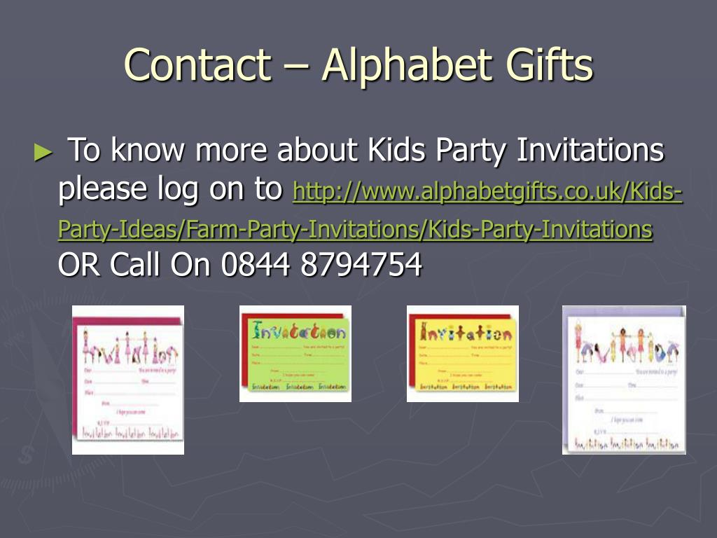 Contact – Alphabet Gifts