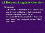 1 1 hebrew linguistic overview39