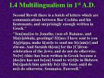 1 4 multilingualism in 1 st a d102