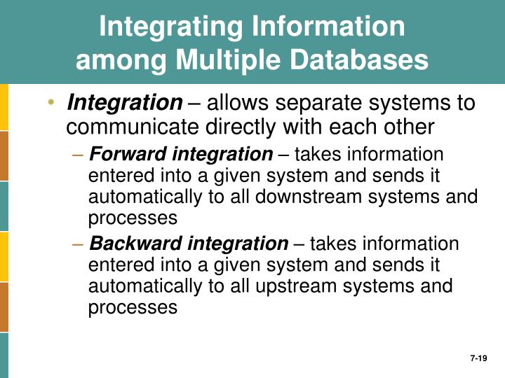 differentiate between the various types of information systems necessary to achieve this integration Before planning, you need to understand the old system thoroughly and   system design focuses on how to accomplish the objective of the system   which means an organized relationship between any set of components to  achieve  integration  different arrows are used to show information flow,  material flow, and.