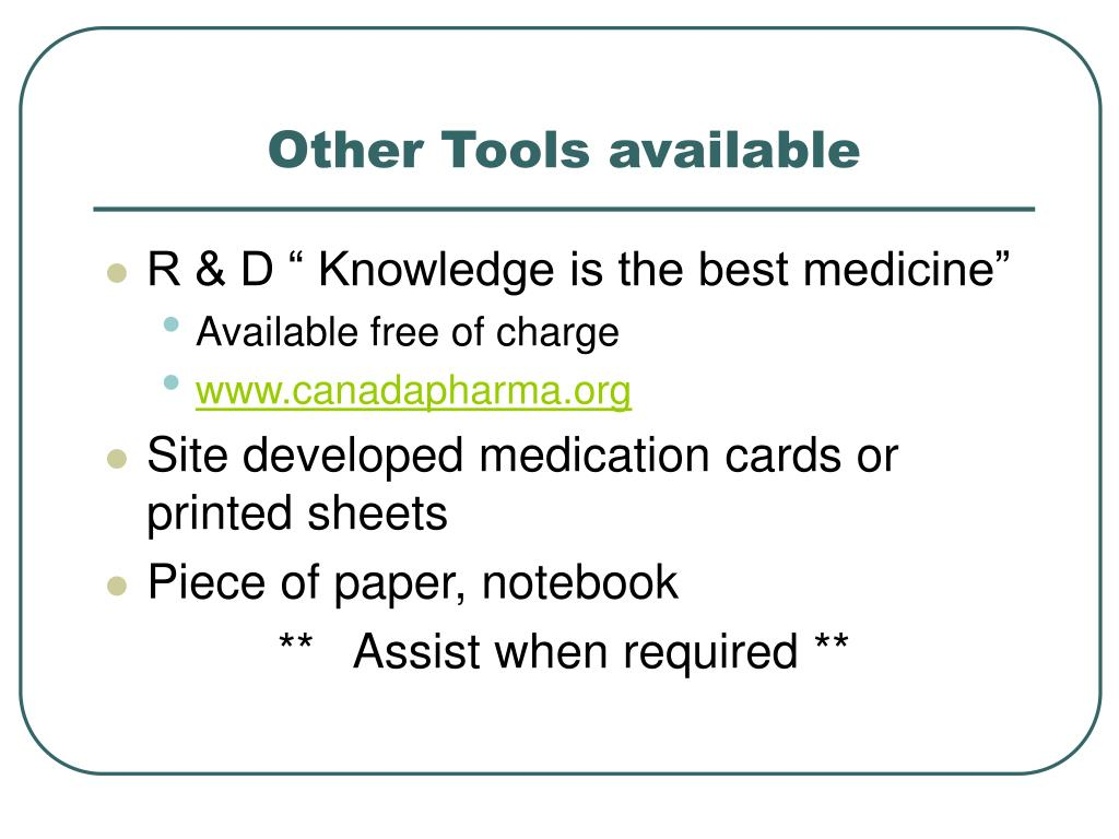 Other Tools available