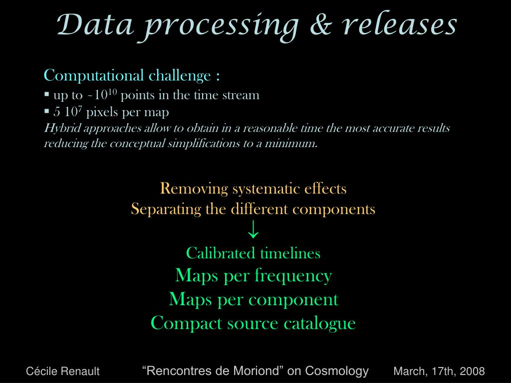 Data processing & releases
