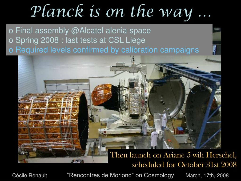 Planck is on the way …