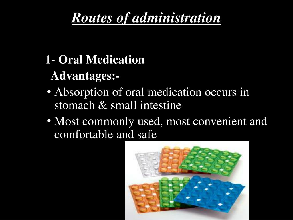 Routes of administration