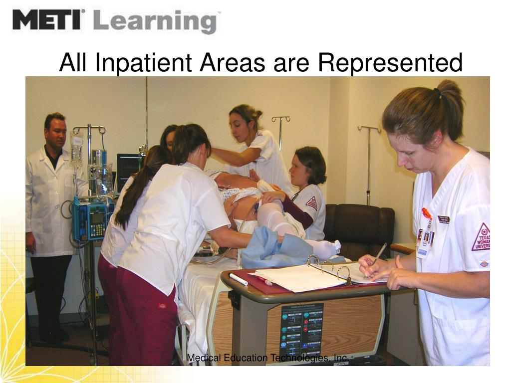 All Inpatient Areas are Represented