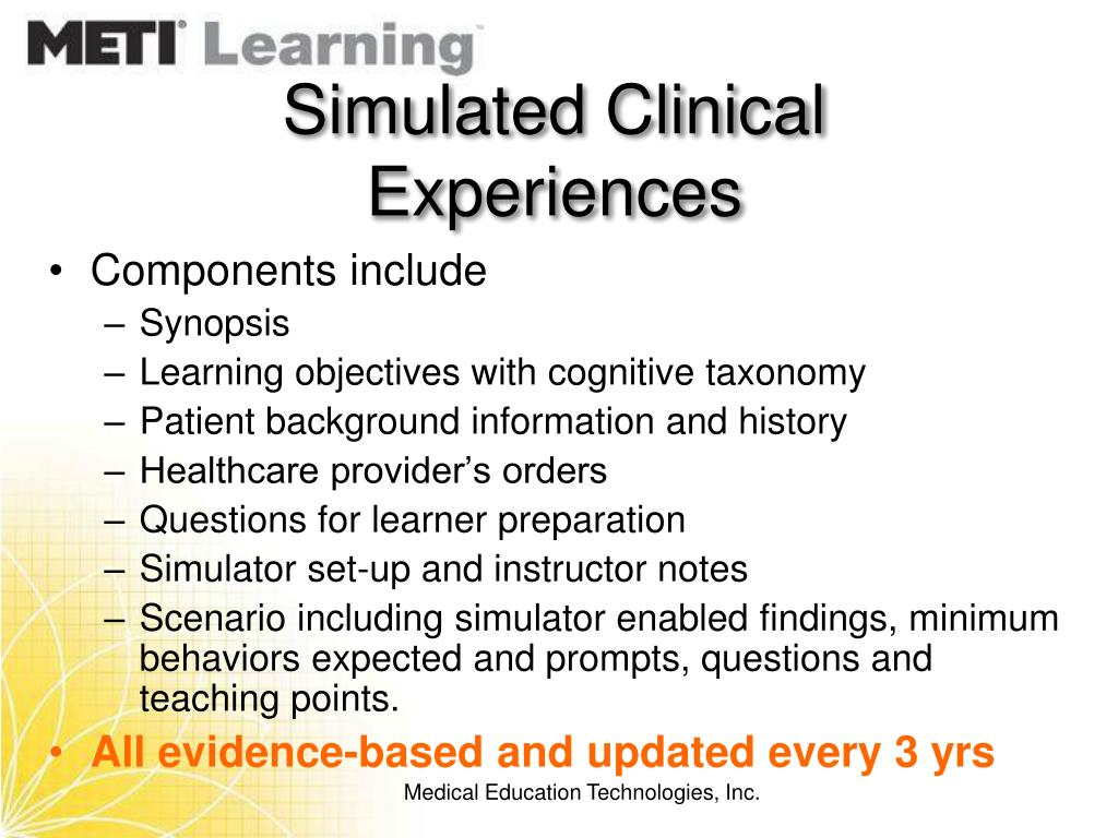 Simulated Clinical Experiences