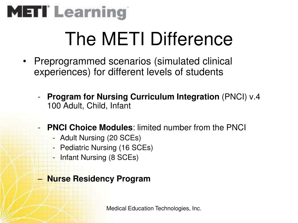The METI Difference