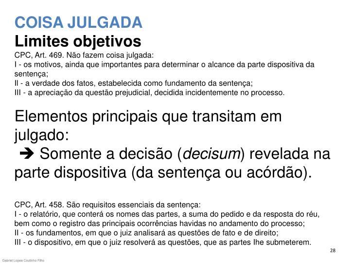 COISA JULGADA