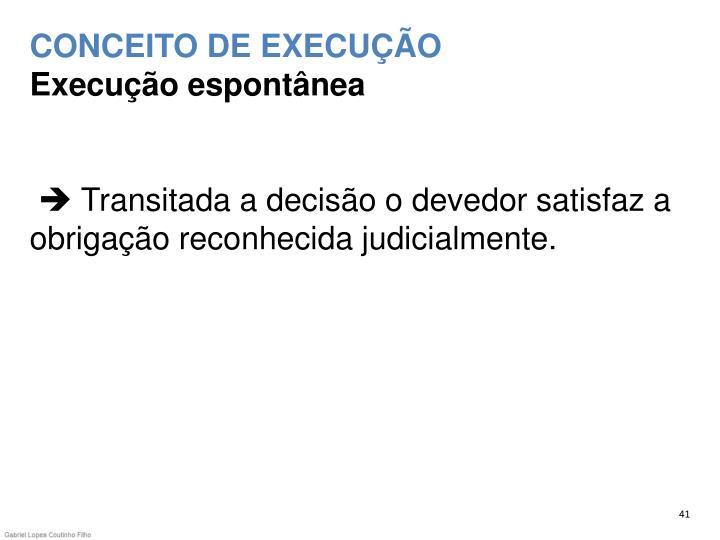 CONCEITO DE EXECUÇÃO
