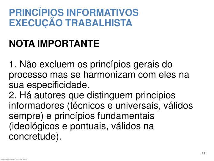 PRINCÍPIOS INFORMATIVOS