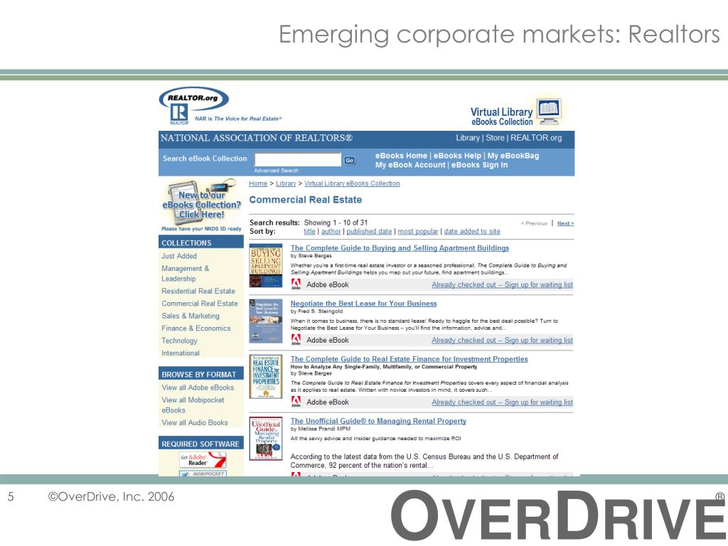 Emerging corporate markets: Realtors