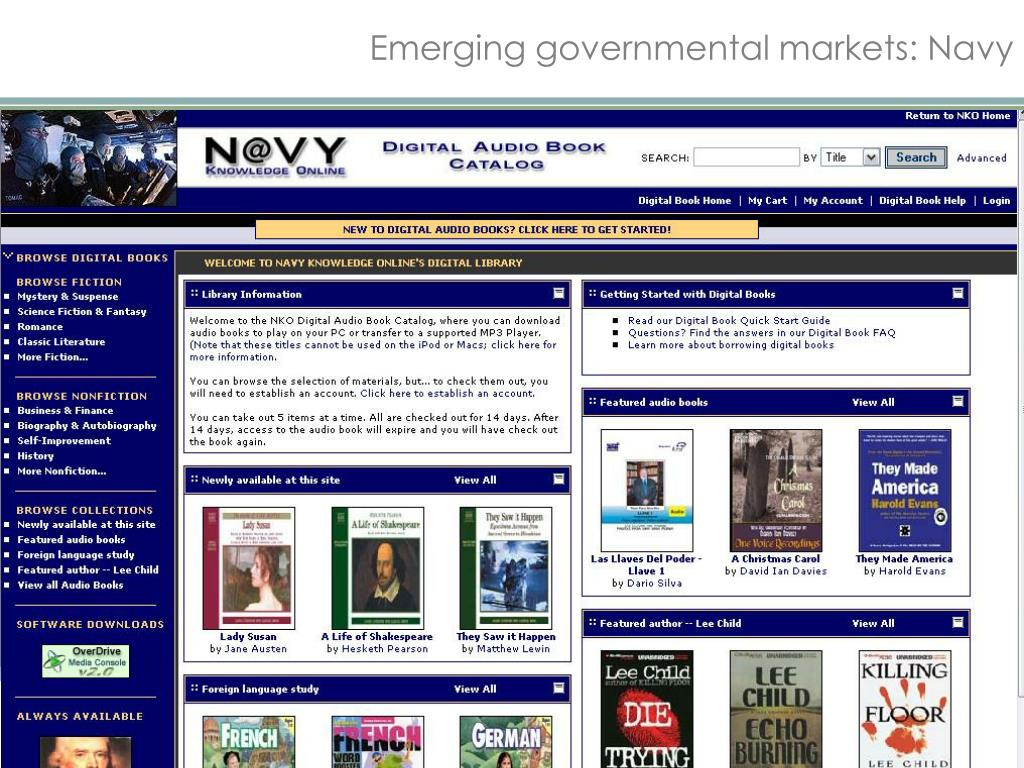 Emerging governmental markets: Navy