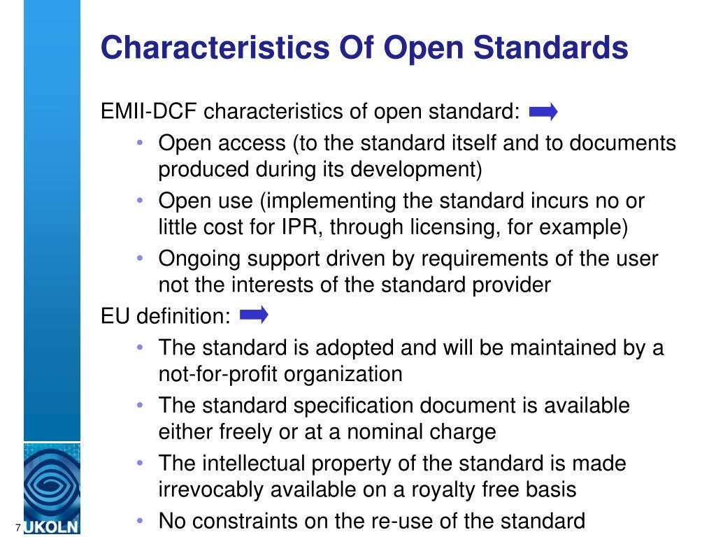 Characteristics Of Open Standards