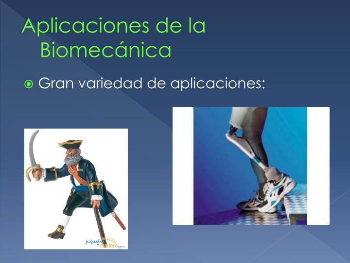Aplicaciones de la Biomecánica