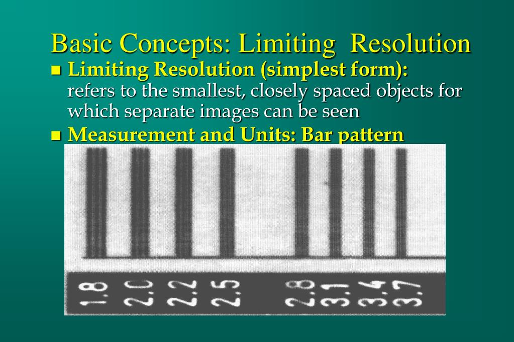 Basic Concepts: Limiting  Resolution