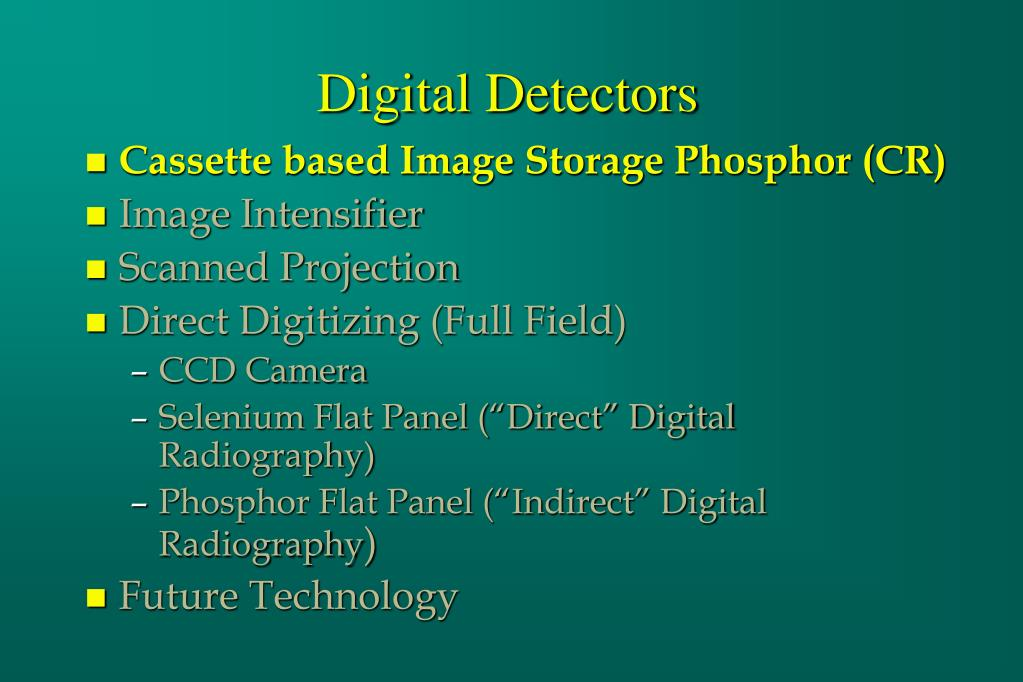 Digital Detectors
