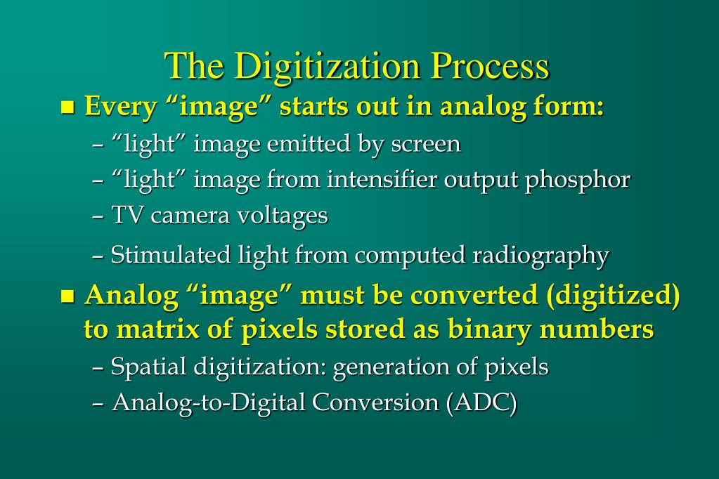 The Digitization Process