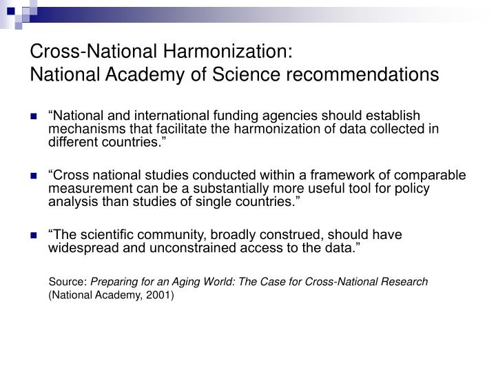 Cross-National Harmonization: