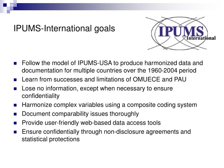 IPUMS-International goals