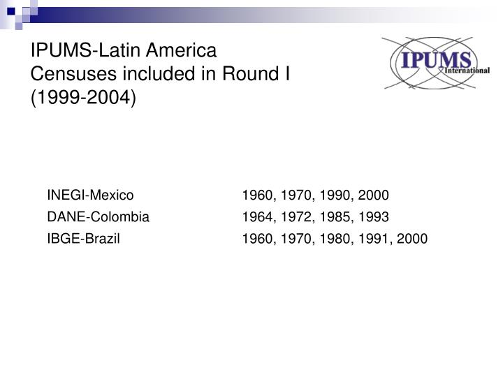 IPUMS-Latin America