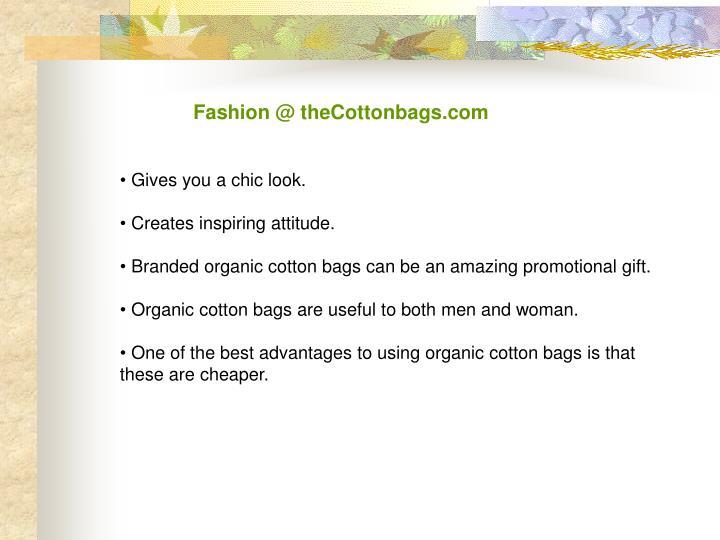 Fashion @ theCottonbags.com