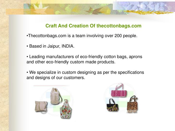 Craft And Creation Of thecottonbags.com